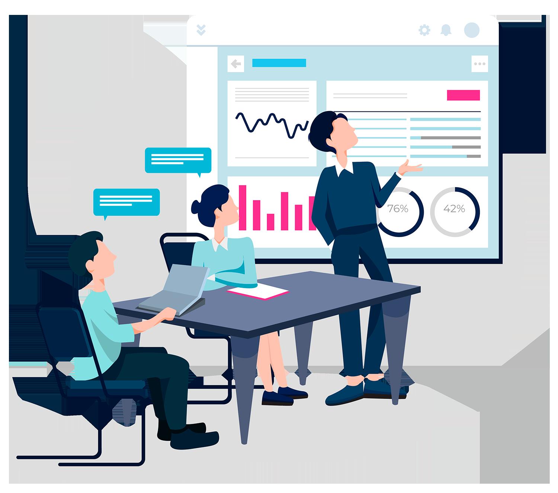 Le proponemos al cliente un plan de marketing completo para alcanzar los objetivos de su proyecto