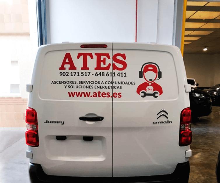 ATES-diseno-rotulacion-furgoneta